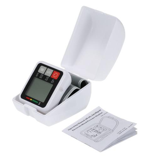 Buy Electronic Blood Pressure Monitor Wrist Type Digital Pulse bp Intellisense Microcomputer Intelligent Voice LCD Display Health Medical Instrument