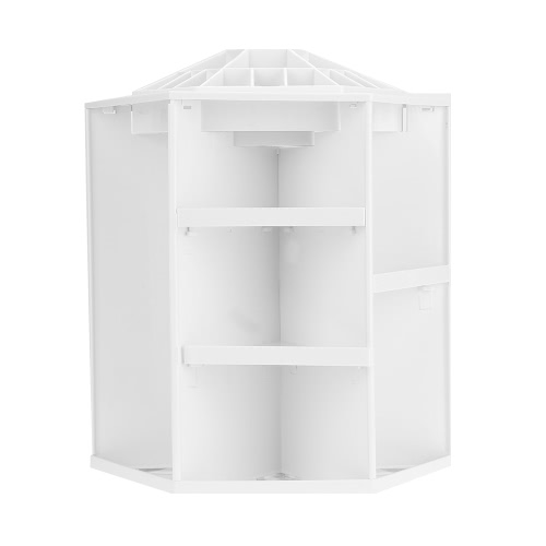 Buy Rotatable 360 Degree Cosmetic Organizer Round Makeup Storage Box Women Accessories Large Capacity