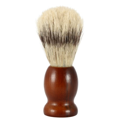 Bristle Shaving Brush with Wood Handle Men's Shave Brush for Razor Male Facial Cleaning Brush for Beard Brown Handle W736