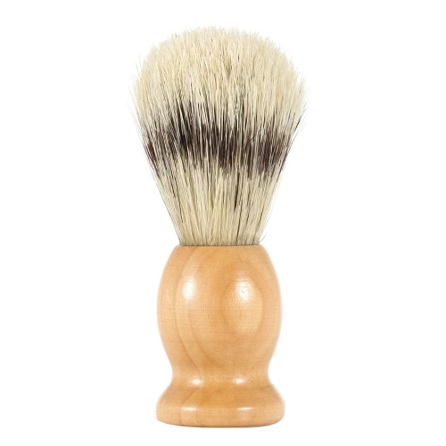 Bristle Shaving Brush with Wood Handle Men's Shave Brush for Razor Male Facial Cleaning Brush for Beard Yellow Handle W737