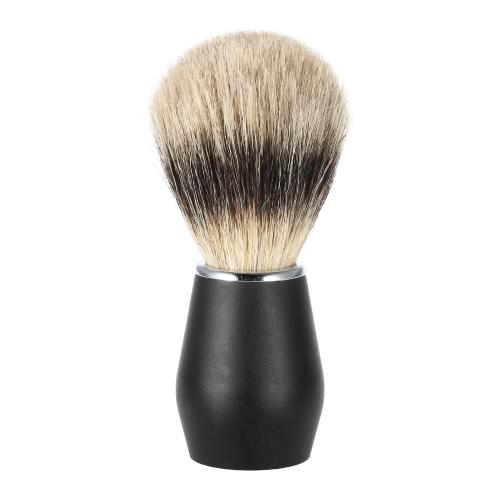 1pc Male Badger Shaving Brush Metal Handle Bristle Razor Brush Men's Black Whisker Cleaning Tool Kit W2218