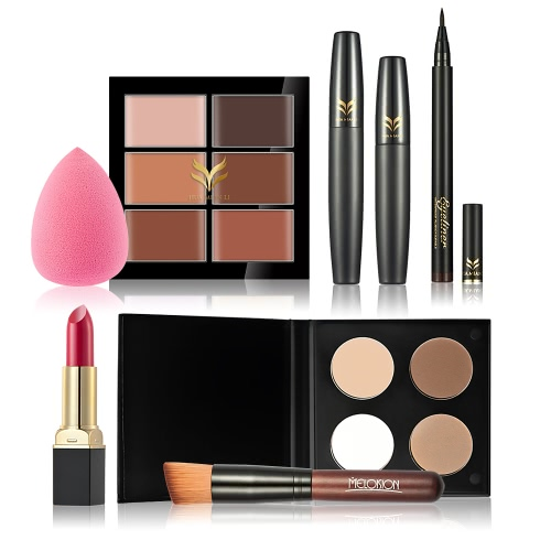 Huamianli 7Pcs Cosmetic Kit Makeup Set Concealer Lipstick Powder Eyeliner Pen Puff Mascara Foundation Brush KitFace<br>Huamianli 7Pcs Cosmetic Kit Makeup Set Concealer Lipstick Powder Eyeliner Pen Puff Mascara Foundation Brush Kit<br><br>Blade Length: 21.0cm