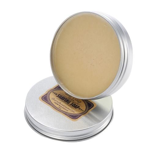 Male Shaving Soap for Beard Cleaning Goat Milk Shaving Soap with Aluminium Bowl for Facial Razor Smooth Shaving Helper W2669