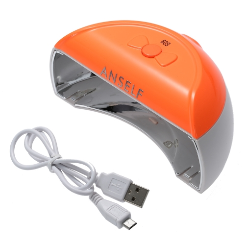 Anself Mini Rechargable 110-240V 9W LED Nail Dryer Lamp Curing Machine USB Portable Nail Art Polish Gel Dryer Nail Art  Salon Tool  Rose