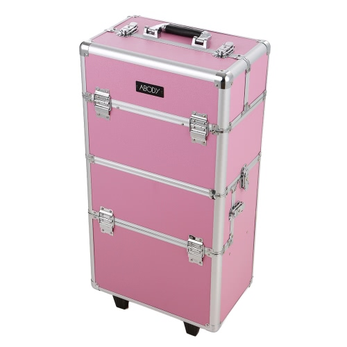 Abody Cosmetic Train Case Makeup Storage Organizer Extendable Makeup Artist Case Rolling Locking Case With Trays PinkCosmetic Bags<br>Abody Cosmetic Train Case Makeup Storage Organizer Extendable Makeup Artist Case Rolling Locking Case With Trays Pink<br><br>Blade Length: 78.0cm