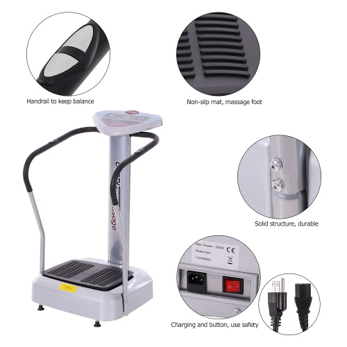 500W Crazy Fit Whole Body Vibration Plate Massage Machine Massager Exercise Machine Body Shaper US Plug W2227US