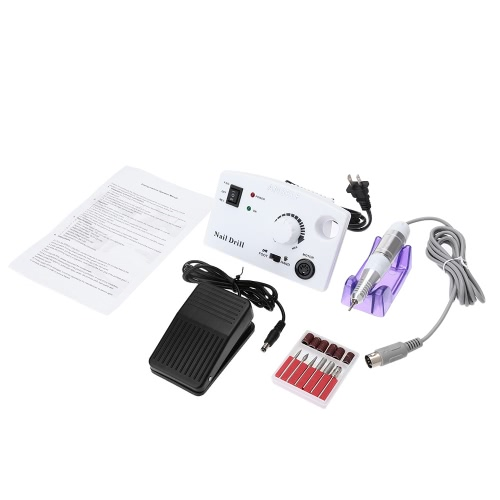 ANSELF électrique Nail Drill Machine Set manucure pédicure Kit outils 100V-240V blanc US Plug