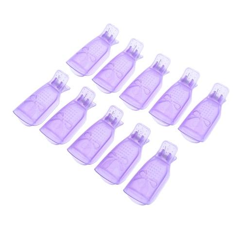 10Pcs UV Gel Soak Off Remover Nail
