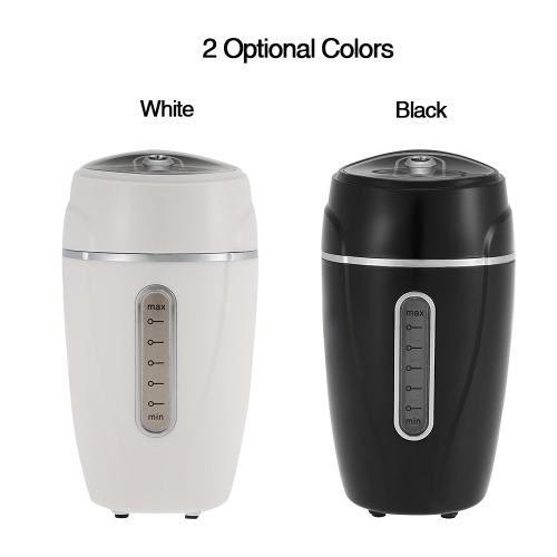 Anself Mini Air Humidifier Aroma Diffuser Aromatherapy Mist Maker Car USB 180ml DC 5V  White Air Purifier Car Charger Travel Home Office