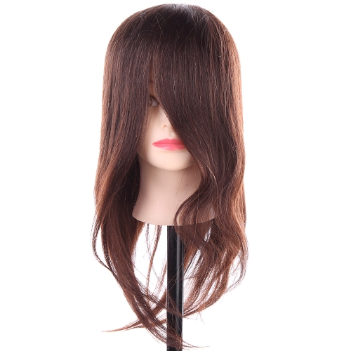 Buy Natural Human Hair Synthetic Hairdressing Training Head Dummy Model Mannequin Cut