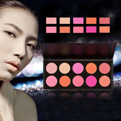 Anself Professional 10 Color Women Cosmetic Makeup Warm Color Glitter W1216