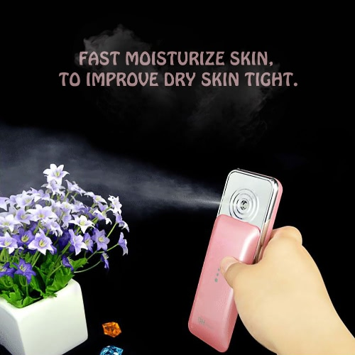1pc 2 colors DH-X1 Nano Handy Mist Beauty Hydrating Water Nano Portable Spray Device Beauty Instrument Face Care White