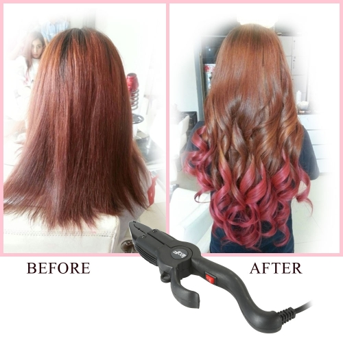 Professional Hair Extensions Pliers Electronic Beauty Hair Instrument Homoiothermal 220¡æ  Hair Extension Style Constant Model EU Plug Purple W1568B