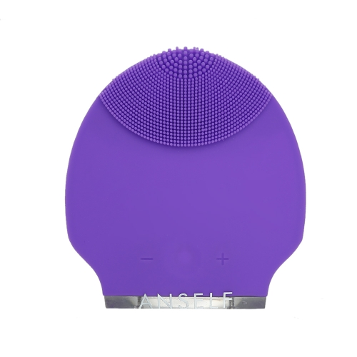 Anself Silicone Waterproof Rechargeable Electric Face Brush Mini Ultrasonic Face Brush Beauty Instrument Super Facial Cleaner Face Care 7 Colors Cleaning Skin Tool
