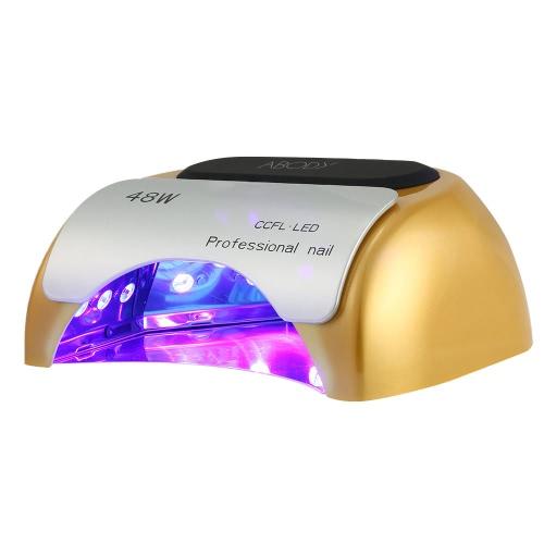110-220V 48W CCFL professionnel + Salon de beauté lumineuse LED lampe UV ongles sèche avec réglage de minuterie automatique Induction