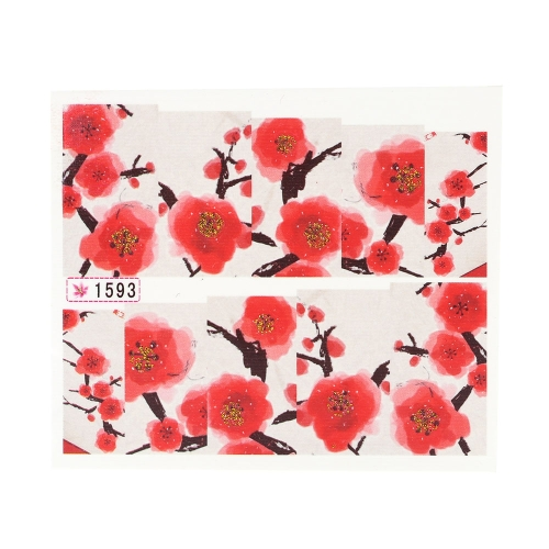 Buy Water Transfer Printing Beauty Flowers Design Stylish Nail Art Sticker Decal Stickers Nails