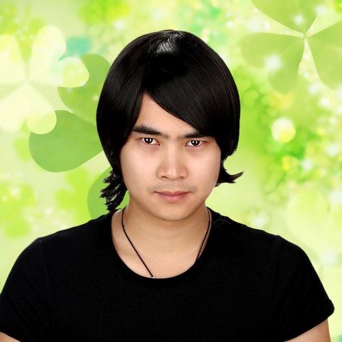 Buy Black Straight Anime Character Cosplay Party Man Wig Forehead Fringe
