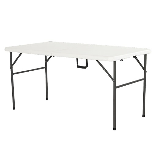 Interouge Rectangular Folding Table 152cm Foldable Tabletop Anti-oxidized, and Anti-UV Humidity Resistant for your Garden Picnic Camping Travel Reception or Caterer WhitePatio Furniture<br>Interouge Rectangular Folding Table 152cm Foldable Tabletop Anti-oxidized, and Anti-UV Humidity Resistant for your Garden Picnic Camping Travel Reception or Caterer White<br><br>Blade Length: 78.0cm