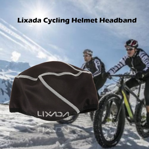 Lixada Winter Cycling Helmet Liner Headband Fleece Thermal Outdoor Sports Hiking Skiing Bike Bicycle Hood Hat Cap with Ear Cover
