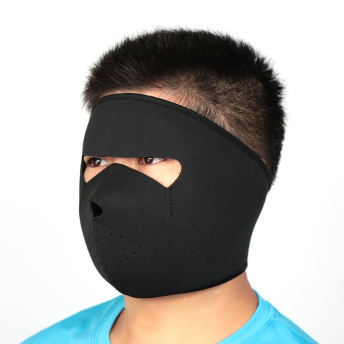 Bicycle Cycling Motorcycle Winter Sports Breathable Windproof Dustproof Face Mask Neoprene Half Face Mask Black Y1521