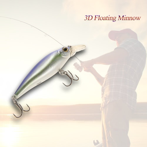 """15cm/5.9"""""""" 3D Floating ABS Minnow Fishing Lures Bait Hooks"""" Y3291-1"""