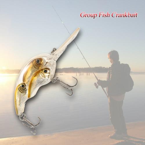 Group Fish Lures Floating SwimBait Hard Plastic 3d Fish Eye Crankbait Y3292-1