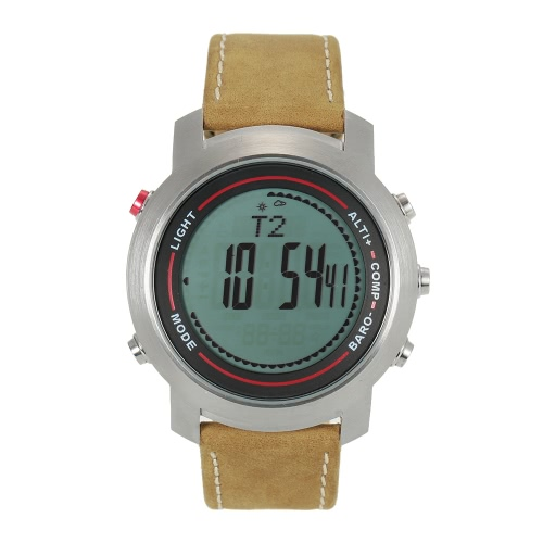 SPOVAN 5ATM Multifunctional Outdoor Sports Watch Climbing Hiking Wristwatch Altimeter Barometer Thermometer Digital Compass Y3446S-1