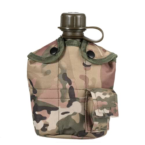 Army Military Style Canteen Hydration Water Bottle with Cover Water Cup Outdoor Camping Trekking