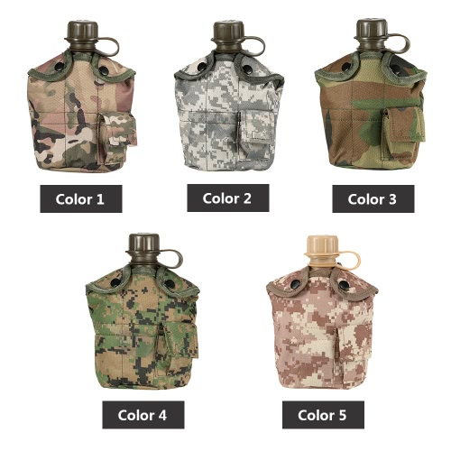 Army Military Style Canteen Hydration Water Bottle with Cover Water Cup Outdoor Camping Trekking Y3456-4