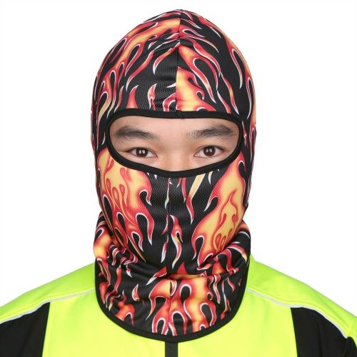 Flame Pattern Thin Breathable Outdoor Bike Motorcycle Hiking Ski Hat Face Mask CS Protection Mask Balaclava Full Face Mask