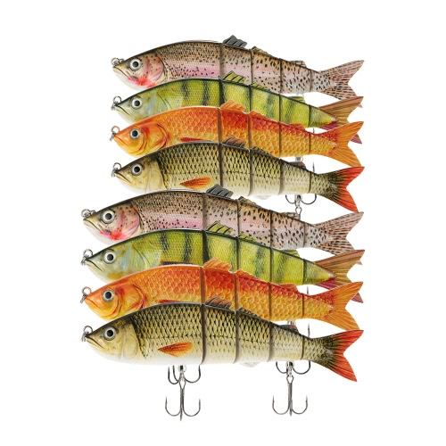 LIXADA 22cm / 25cm Lifelike Multi-jointed 5-segement Swimbait Hard Fishing Lure Bass Bait