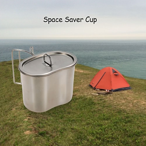docooler Stainless Steel Space Saver Cup Water Cup Portable 700ml