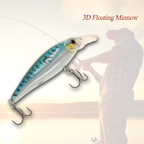 "15cm/5.9"" 3D Floating ABS Minnow Fishing Lures Bait Hooks"