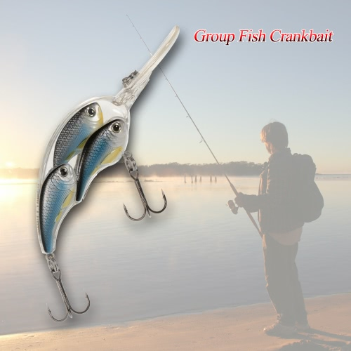Group Fish Lures Floating SwimBait Hard Plastic 3d Fish Eye Crankbait