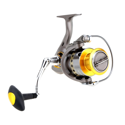 Spinning Reel Smooth Drag Fishing Reel 1000-5500 Series Gray Fishing Reel 6+1BB