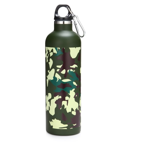 600ML Outdoor Sports Double Layer Stainless Steel Thermal Vacuum Insulation Water Bottle Vacuum Cup for Hiking & Camping
