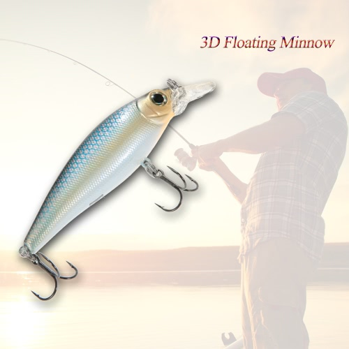 "15cm/5.9"""" 3D Floating ABS Minnow Fishing Lures Bait Hooks"" Y3291-3"