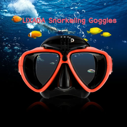 Lixada Adult Scuba Snorkeling Swimming Tempered Glass Diving Mask Goggles with Camera MountDiving Mask&amp;Snorkels<br>Lixada Adult Scuba Snorkeling Swimming Tempered Glass Diving Mask Goggles with Camera Mount<br><br>Blade Length: 20.0cm