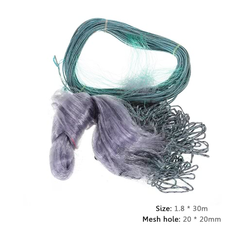 1.8*30m Monofilament 20mm Mesh Hole 3 Layers Fishing Gill Net Monofilament Gill NetTools &amp; Equipment<br>1.8*30m Monofilament 20mm Mesh Hole 3 Layers Fishing Gill Net Monofilament Gill Net<br><br>Blade Length: 27.0cm