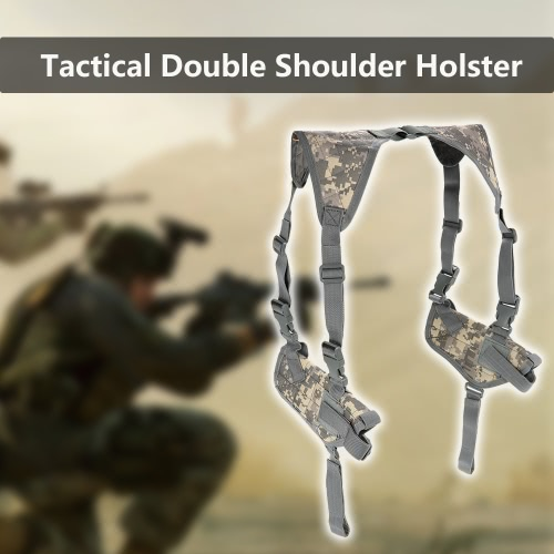 Tactical Double Horizontal Shoulder Holster Universal Military Adjustable Under Arm Double Carrier HolderOthers<br>Tactical Double Horizontal Shoulder Holster Universal Military Adjustable Under Arm Double Carrier Holder<br><br>Blade Length: 22.0cm