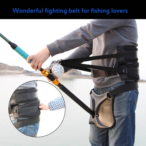 Buy sea fishing waist belt rod holder pole bracket stand for Fish fighting belt