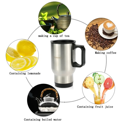 TOMSHOO 400ML Portable Stainless Steel Travel Outdoor Cup Double Wall Heat Insulated Water Cup