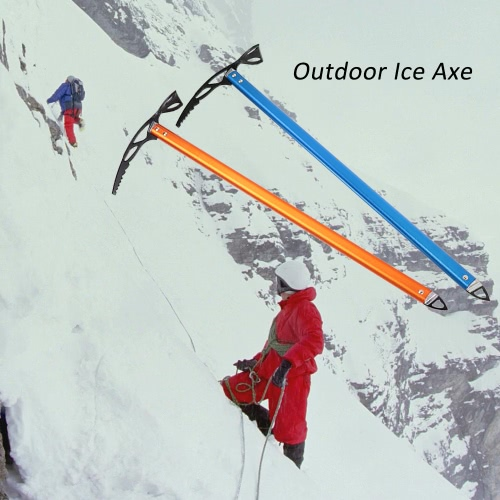 Ice Axe Lightweight Anodized Aluminum Design Self Arrest for Hiking Glacier Snowy SnowbankCrampons<br>Ice Axe Lightweight Anodized Aluminum Design Self Arrest for Hiking Glacier Snowy Snowbank<br><br>Blade Length: 72.0cm