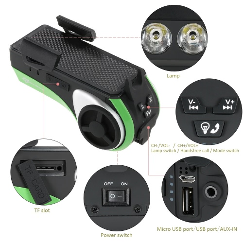 Multifunctional Bicycle Bike Bluetooth Audio Phone Holder