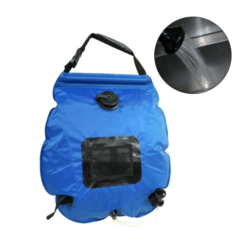 Lightweight Portable Outdoor Solar Camping Shower Bag with Removable Hose and Switchable Shower Head Y2548