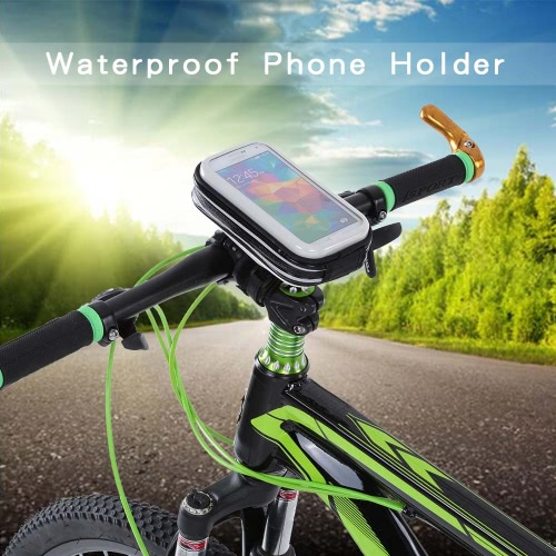 "LIXADA Rainproof Motorcycle Bike Bicycle Handlebar Mount Holder Case for 4"""" Cell Phones"" Y2798"