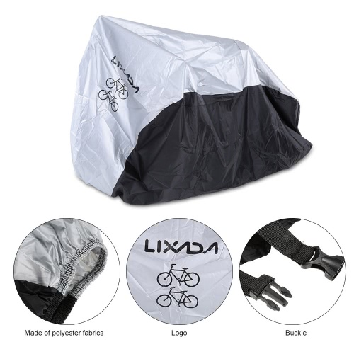 LIXADA 180T Polyester Fabrics Bicycle Cover Foldable Durable Bike Cover for 2 Bikes with a Storage Bag 11281
