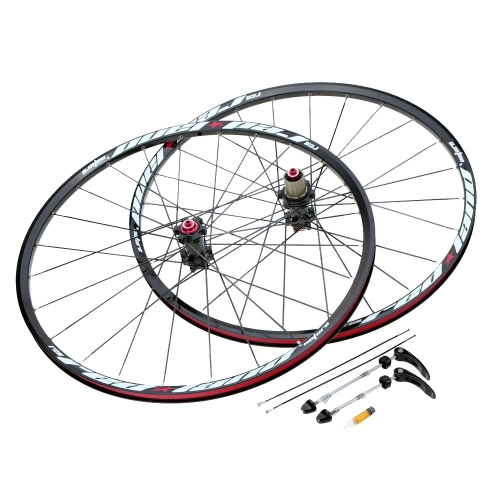 Buy 26'' 24H Disc Brake Bike Wheel Mountain Bicycle MTB Wheelset Hubs Rim Front Rear