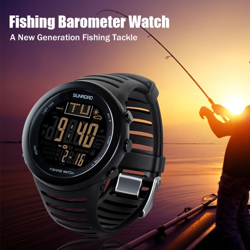 Buy Sunroad Digital Fishing Watch Barometer Altimeter Thermometer Weather Forecast Multifunctional