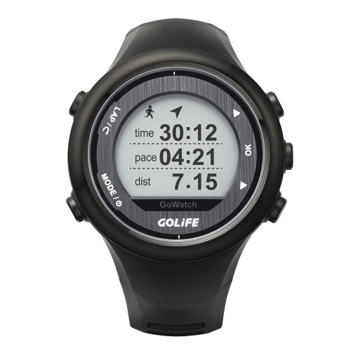 GOLiFE GoWatch 820i Outdoor GPS Smart Sports Watch Rechargeable Running Cycling Swimming Hiking Triathlon 5ATM Water Resistant 11281